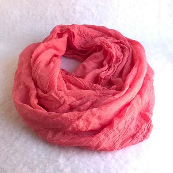 Accessories - Tahiti peach infinity scarf